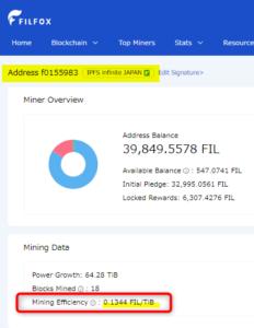 ZIPANGFIL FILFOX マイニング 採掘量 見方 マイナーランキング 比較